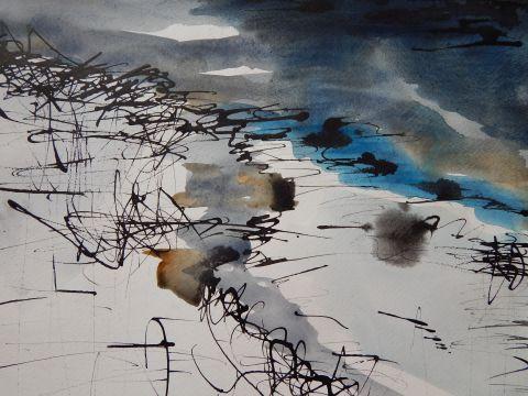Polje, akvarel, 2019 1 Field, watercolour, 2019