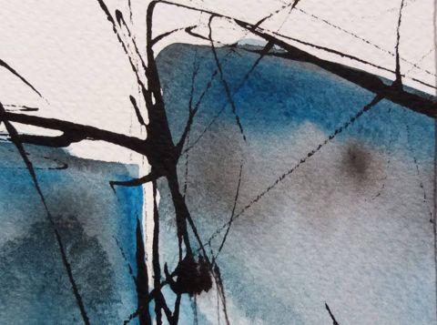 Ladja, akvarel, 2020, 4 Ship, watercolour, 2020