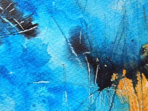 Voda, akvarel, 2019, 7 Water, watercolour, 2019