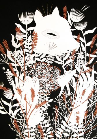 Ikona III (detail), papercutting